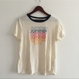 Summer Time Graphic 100% Cotton Tee Shirt